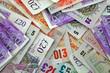 Leinwanddruck Bild - pile sterling notes