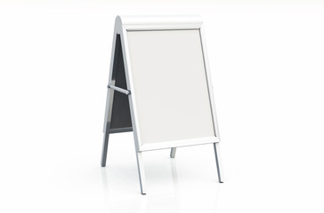 DIN Format Kundenstopper + Klapprahmen - Blanko