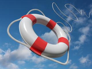 Salvagente lanciato in soccorso