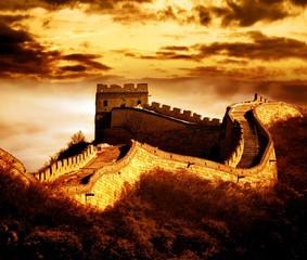 Wielki Mur w Badaling, Pekin, Chiny.