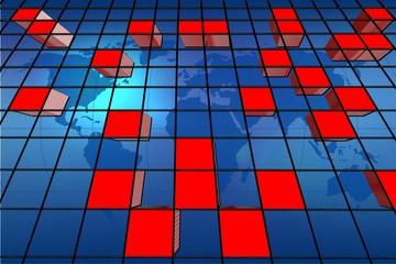 World abstract bars