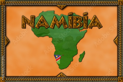 African illustration - Namibia
