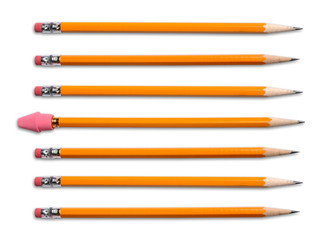 Yellow Pencils With Eraser