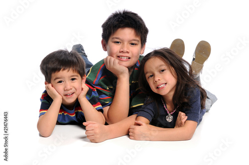 Children Laying on Floor