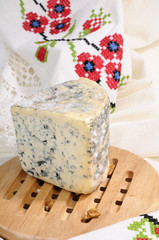 traditional french bleu cheese isolated