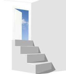 porta con scala