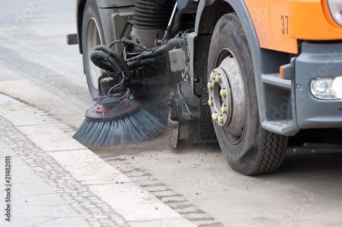 Leinwandbild Motiv Straßenreinigung