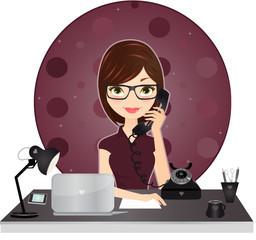 Secrétaire au téléphone