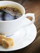 Beautiful Hot Coffee close-up