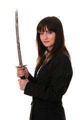 Frau mit Schwert