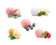 Eissortiment - verschiedene Kugeln Fruchteis