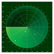 Green radar screen, vector illustration AI8 compatible