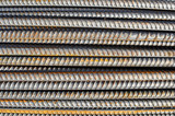 Steel Rebar Background with Construction Copyspace poster