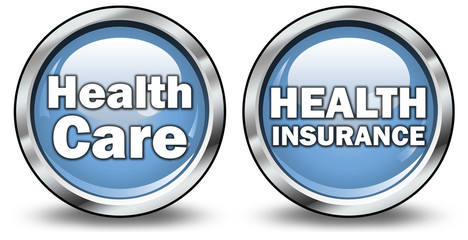 """Glossy 3D Style Buttons """"Healt Care / Insurance"""""""