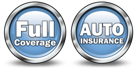 "Glossy 3D Style Buttons ""Auto Insurance / Full Coverage"""
