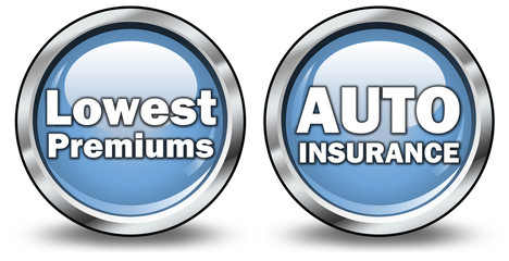 """Glossy 3D Style Buttons """"Auto Insurance / Lowest Premiums"""""""