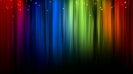 Colored Lights on Curtain