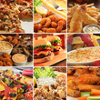 Collage of pub food. - 21500602