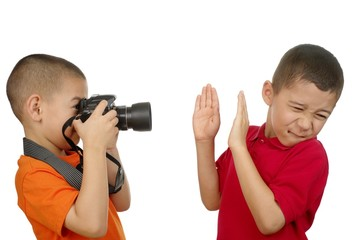 paparazzi kid taking unwanted photo