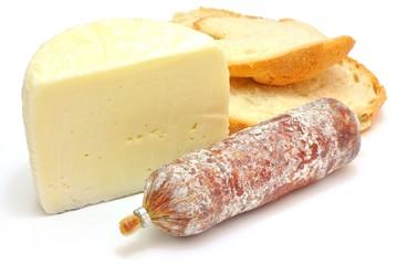 Formaggio, pane e salame