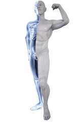 athlete under Xrays