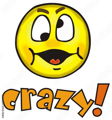 смайлик crazy: