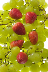 Table grapes and strawberries