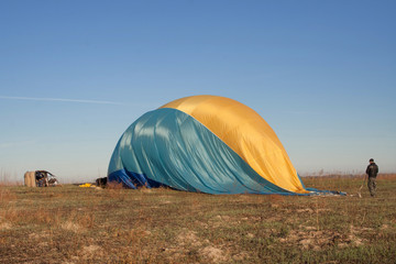 Blown balloon after flight