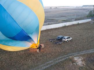 Blown balloon at start