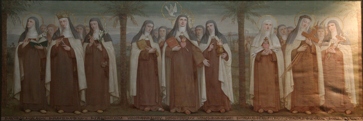 Carmelite Saints, The Church Stella Maris, Haifa, Israel