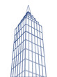 Vector outlined skyscraper