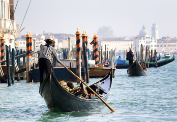 Gondola towards San Marco, Venice