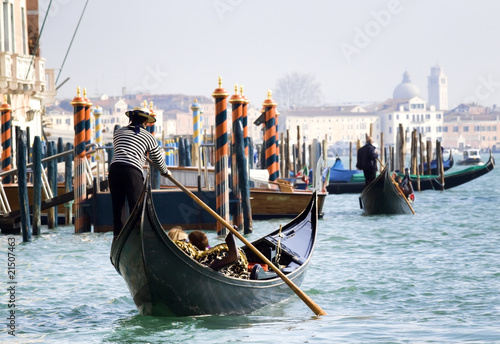 Foto Spatwand Venice Gondola towards San Marco, Venice