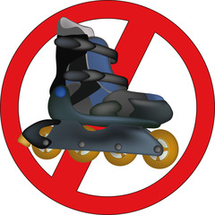 Interdiction of driving for the roller skates