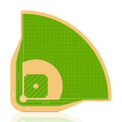 Baseball field. Vector. Detailed portrayal of grass.
