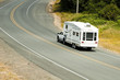 Recreational vehicles on the highway