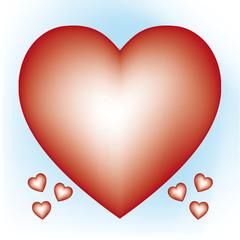 cuore rosso sfumato