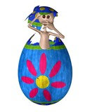 Strange Alien Creature Hatching from an Easter Egg poster