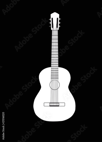 vector classical acoustic guitar