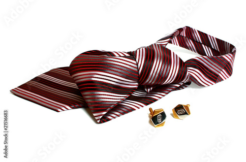men necktie and cuff-links