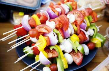 Vegetable Barbeque skewers