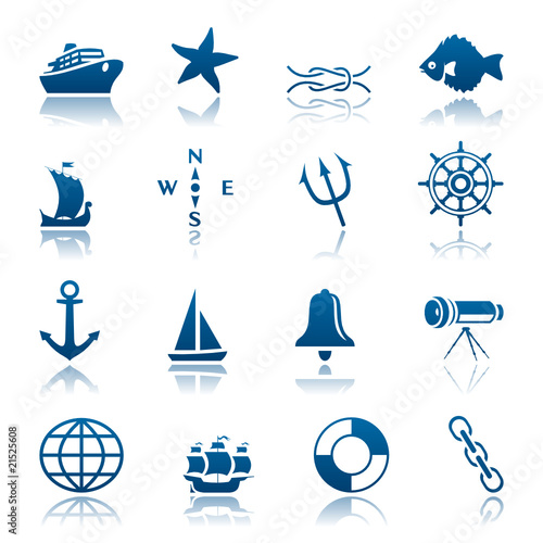 Marine icon set