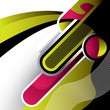 roleta: Abstract design with futuristic elements. Vector illustration.