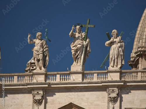 statues of jesus & the apostles at the saint peter's basilica