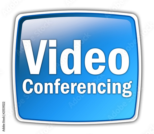 "Glossy Button ""Video Conferencing"""