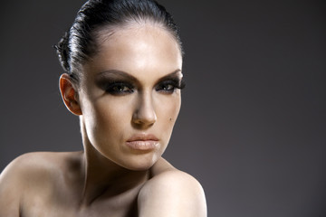 Beautiful woman portrait with professional make-up.