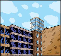 Cartoon of a city