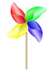 Eolienne multicolore