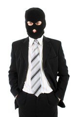 Businessman in mask