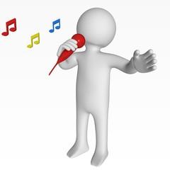 Au Micro, le Chanteur